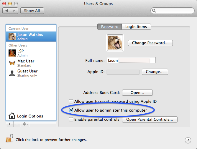 apple mac change keychain password