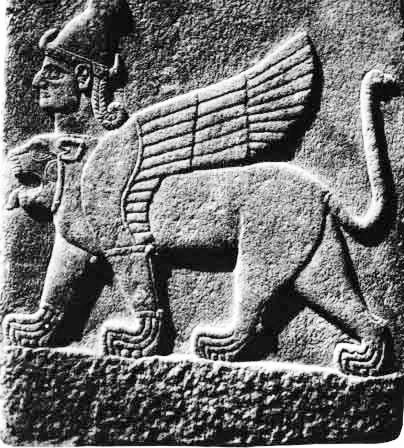 Two-headed sphinx from Carchemish (University of Pennsylvania)
