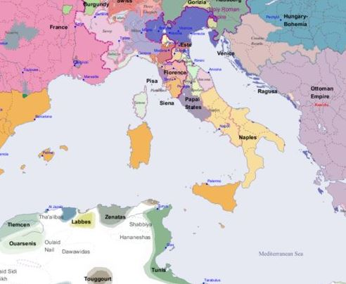 Italy Map 1500.Maps Of Italy