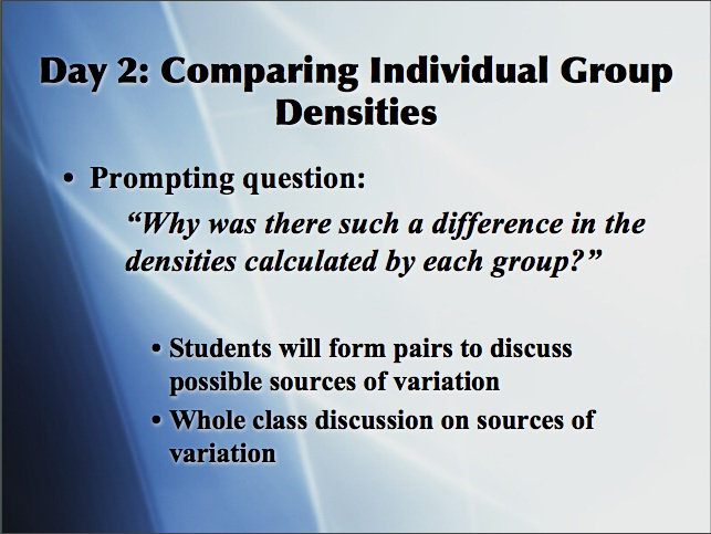 Instructional Analysis Whole Class Discussion